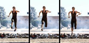 spartan race saut arrivée
